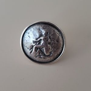 Silpada Roman Coin Ring Size 8 - Retired